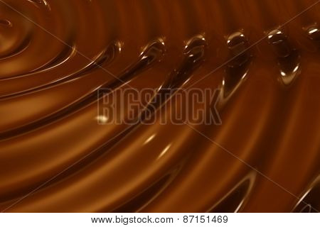 Chocolate Ripple Background Close-up Shooting