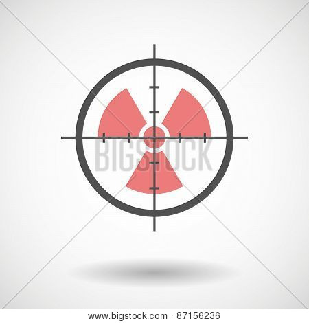 Crosshair Icon With A Radio Activity Sign