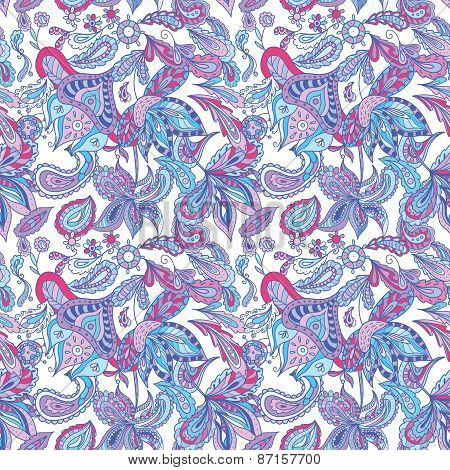 Blue and Pink Ethnic Pattern