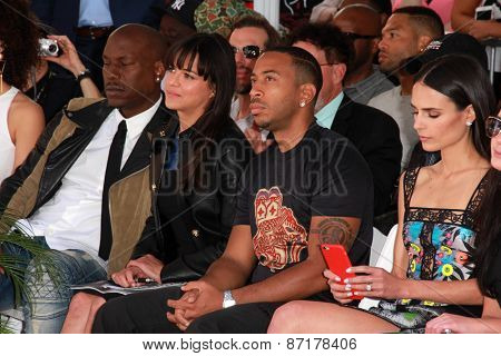LOS ANGELES - APR 1:  Tyrese GIbson, Michelle Rodriguez, Ludacris, Jordana Brewster at the Vin Diesel Hand and Foot Print Ceremony at the TCL Chinese Theater on April 1, 2015 in Los Angeles, CA