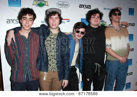 LOS ANGELES - APR 1:  Cadien Lake James, Clay Frankel, Jack Dolan, Connor Brodner, Twin Peaks at the The Music Of David Lynch at the Ace Hotel on April 1, 2015 in Los Angeles, CA