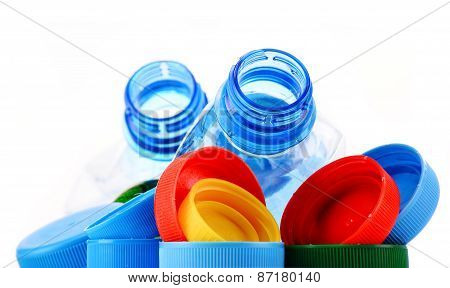 Composition With Plastic Bottles And Caps
