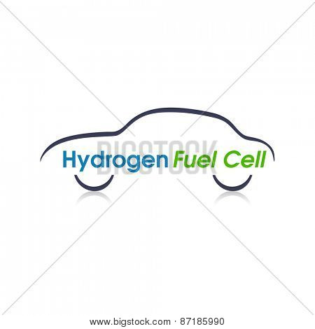 Abstract Hydrogen Fuel Cell car design.