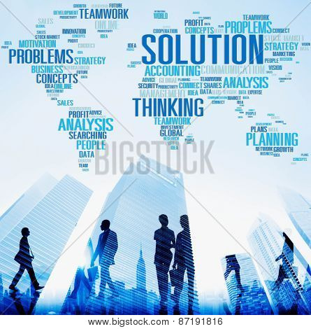 Solution Success Solved Decision Strategic Progress Concept poster