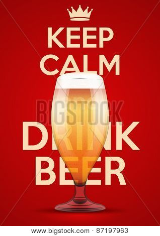 Illustration Keep Calm And Drink Beer