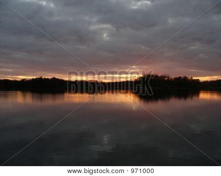 Sunset On Pontiac Lake