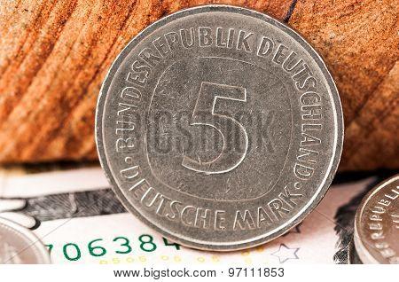 5 Five Deutsche Mark Bundesrepubik Deutschland