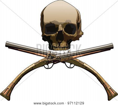 Jolly Roger with pistols