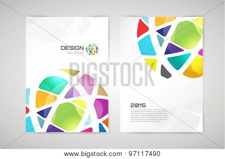 Vector globe brochure template. Abstract circle design and creative identity idea, blank, paper, ad, blank, book, business card. Stock illustration