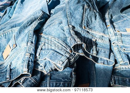Lot of different blue jeans Blue Jeans