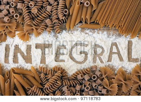 a  variety of integrals pasta - texture poster