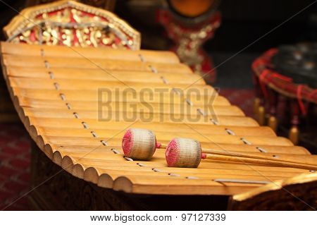 Wooden Soprano Xylophone, The Thai Music Instrument