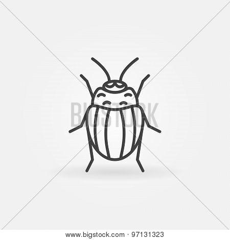 Potato or Colorado bug logo