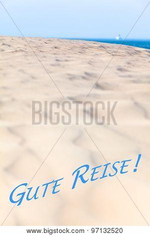 Goodbye View to the Sea Horizon - Gute Reise (German, Bon Voyage)