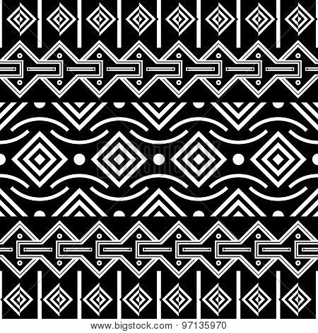 Tribal Seamless Pattern. Ethnic Vector Background