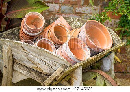 Terra cotta flower pots