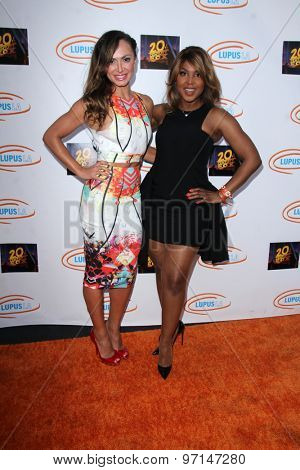 LOS ANGELES - JUN 6:  Karina Smirnoff, Toni Braxton at the Lupus LA Orange Ball  at the Fox Studios on June 6, 2015 in Century City, CA