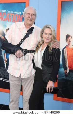 LOS ANGELES - JUL 27:  Chevy Chase, Beverly D'Angelo at the