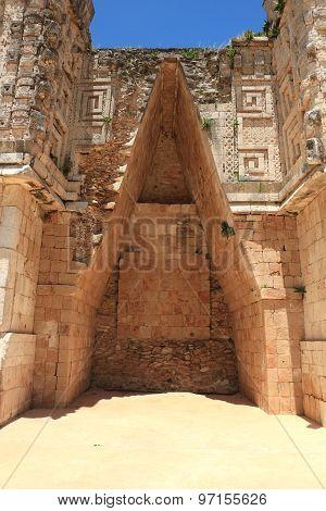 Uxmal Mayan ruins in Mexico, located at Yucatan Peninsula