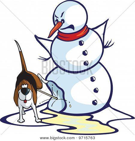 Peed On Snowman