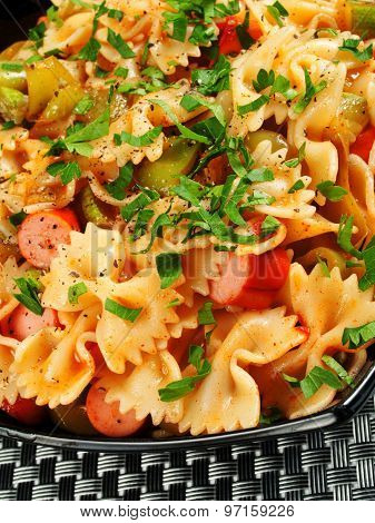Farfale With Sausage And Parsley