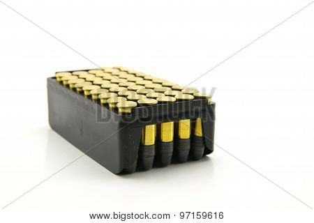 Package Of Golden Hollow Point Ammunition In Caliber .222