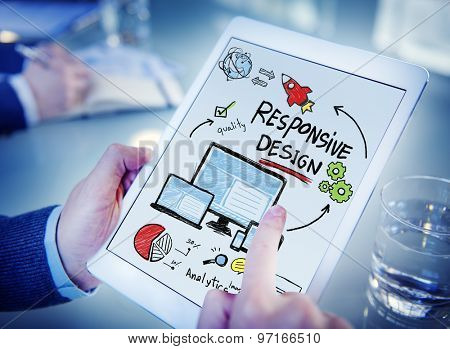 Responsive Design Internet Web Online Device Technology Concept