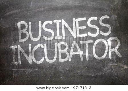 Business Incubator written on a chalkboard