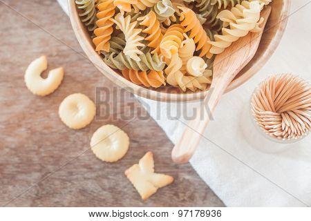 Cook Alphabet Biscuit With Fusili Pasta
