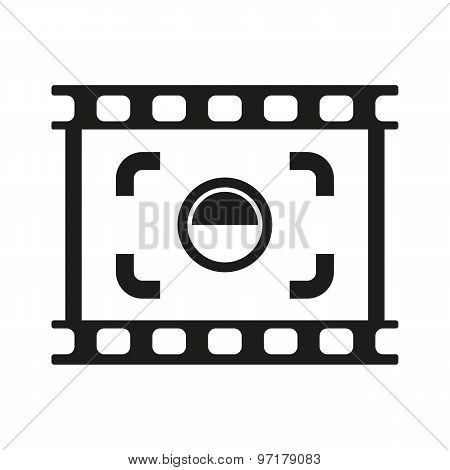 The viewfinder icon. Focusing and photography, photo symbol. Flat Vector illustration. Button Set poster