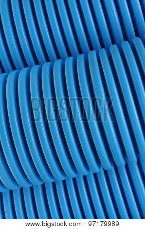 Blue curvilinear tubes