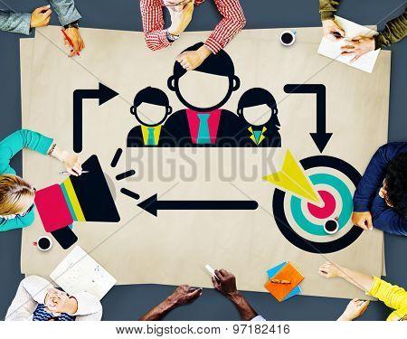 Coaching Leadership Mentoring Target Concept poster