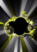 an abstract black party background for design poster