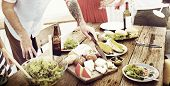Food Table Healthy Delicious Organic Meal Concept poster