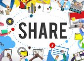 Share Post Media Trending Social Media Concept poster