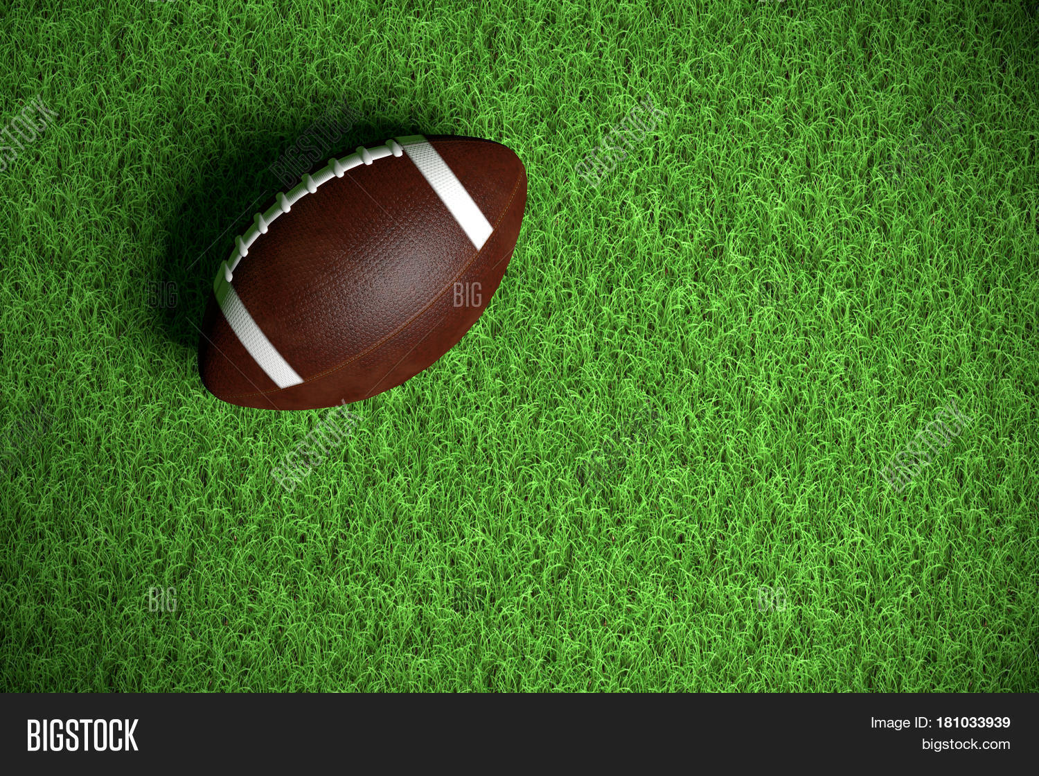 American Football On Image Photo Free Trial Bigstock