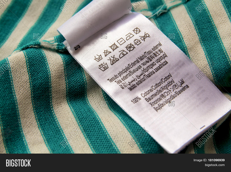Clothing Label Laundry Image Photo Free Trial Bigstock