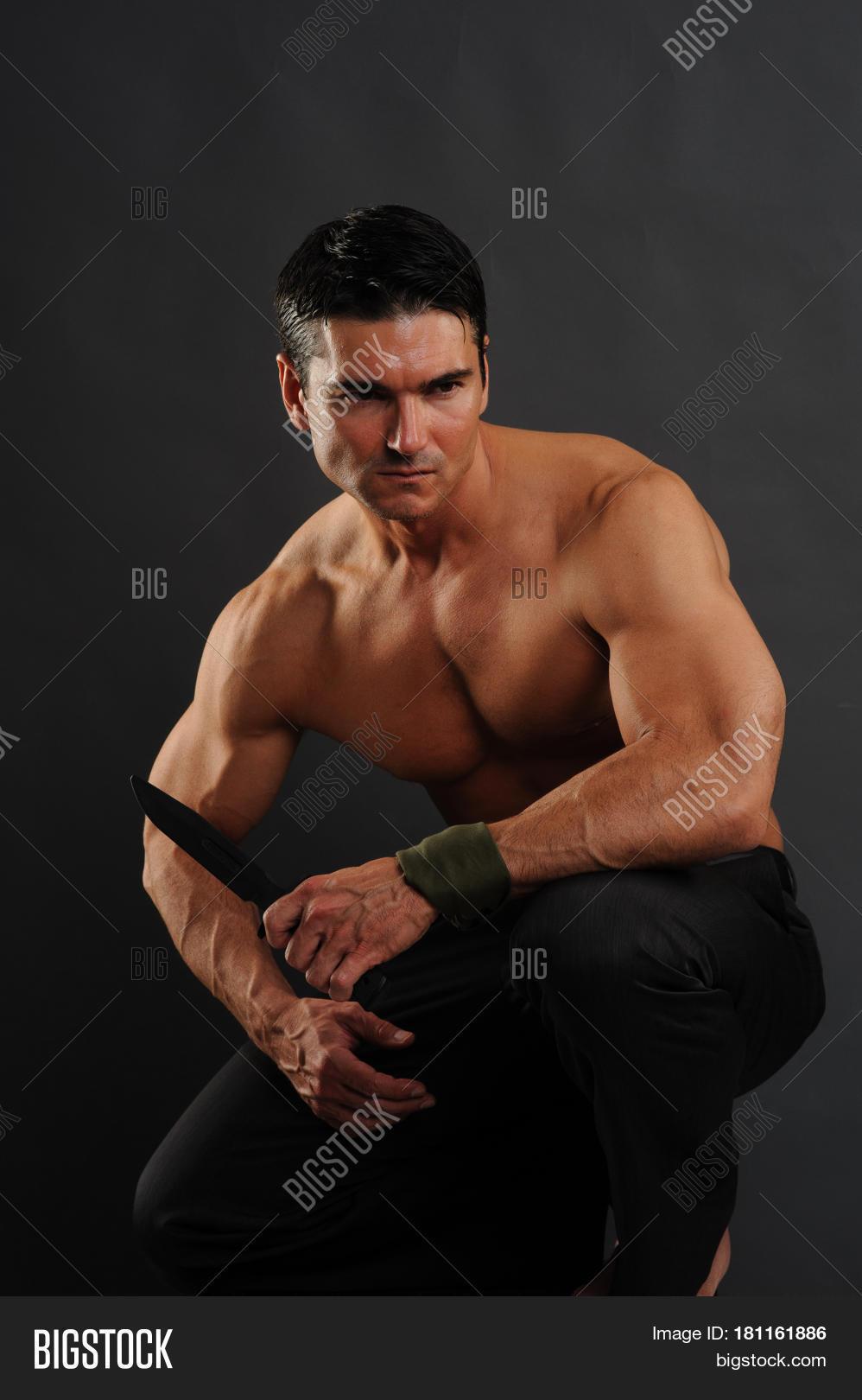 Sexy barbarian man