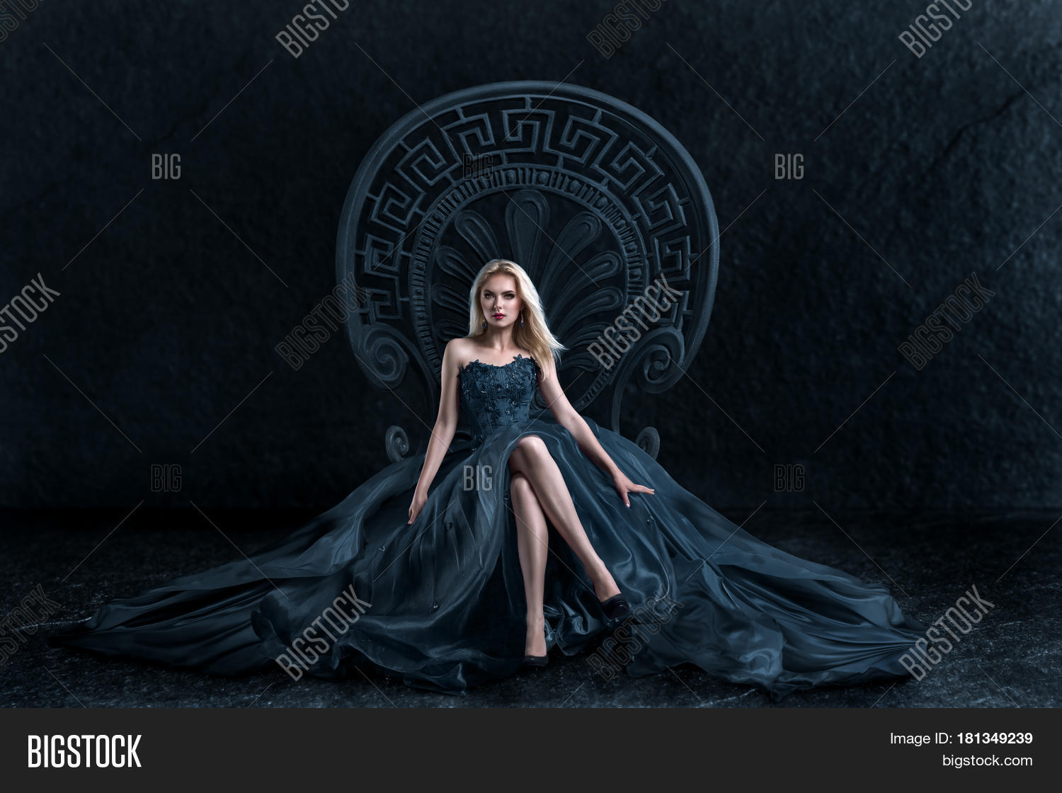 Blonde Woman Sitting Image & Photo (Free Trial) Bigstock
