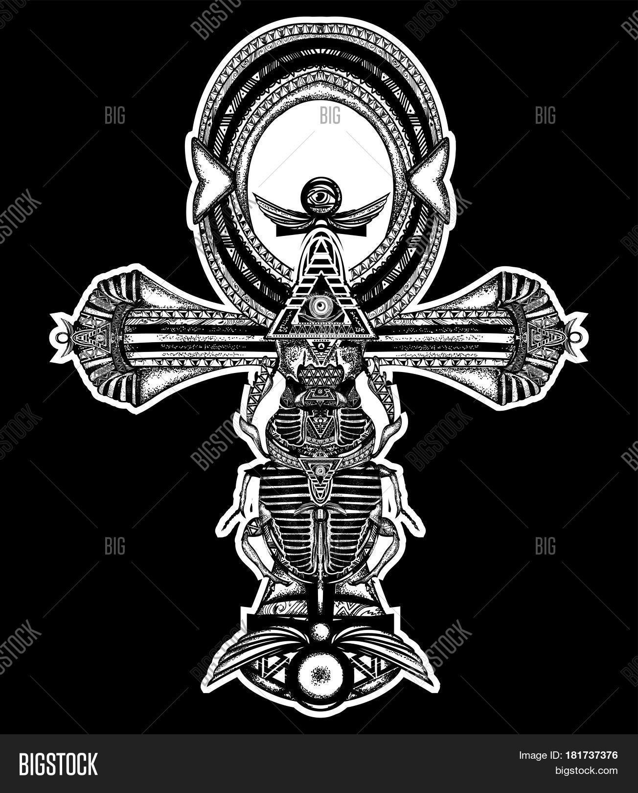 Ankh Tattoo Ancient Vector Photo Free Trial Bigstock