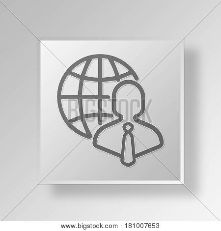 Gray Square international Business professional Symbol icon Concept
