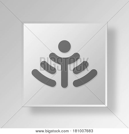 Gray Square internet of things Symbol icon Concept