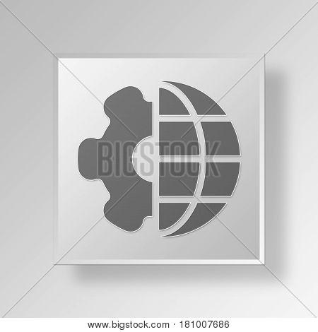 Gray Square internet settings Symbol icon Concept