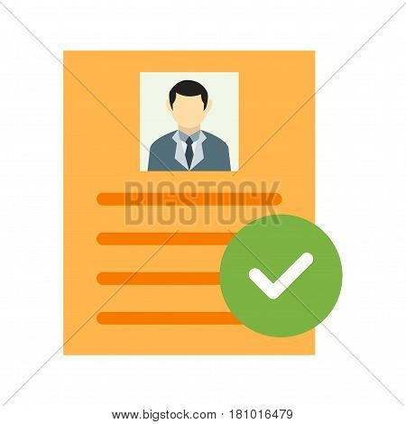 User, profile, valid icon vector image. Can also be used for business administration. Suitable for mobile apps, web apps and print media.
