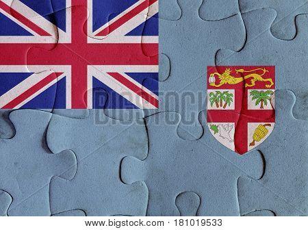 Republic Of Fiji Flag Puzzle