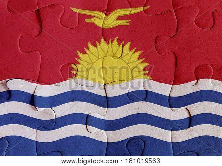 Republic Of Kiribati Flag Puzzle