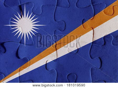 Marshall Islands Flag Puzzle