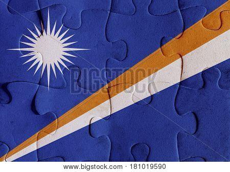 Marshall Islands Flag Puzzle