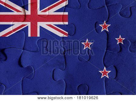 New Zealand Flag Puzzle