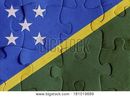 Solomon Islands Flag Puzzle